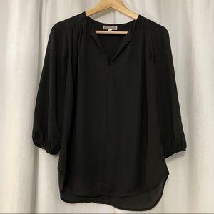 Black 3/4 sleeve blouse Pleione